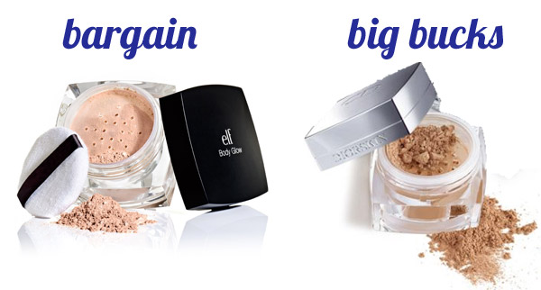 Bargain & big bucks: Face powder