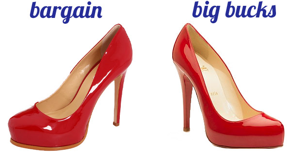 Bargain red pumps