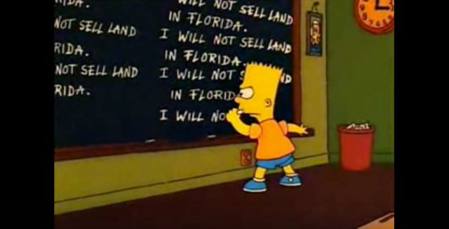 Bart Simpson is left-handed