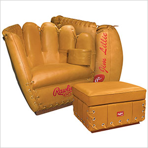 Rawlings Heart of the Hide Glove Chair and Ottoman