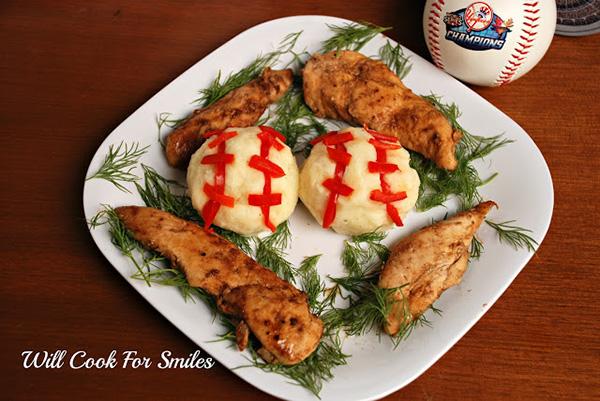 Baseball mashed potatoes