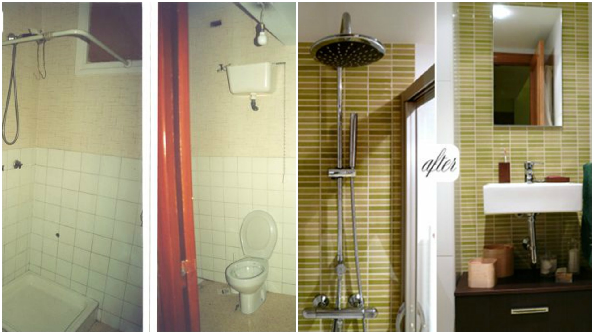 Bathroom makeover before and after
