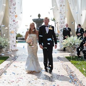 Real wedding: A glamorous beach affair
