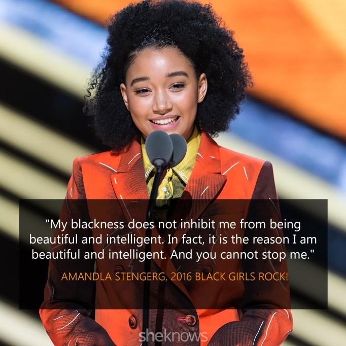 Amandla Stenberg Black Girls Rock quote