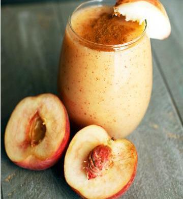 Summer peach cobbler smoothie