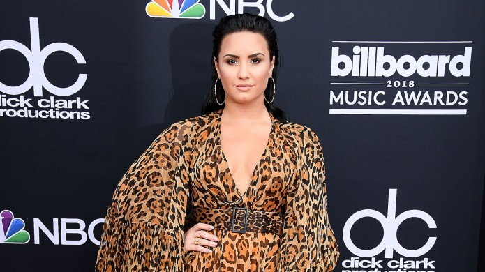 Demi Lovato arrives at the 2018