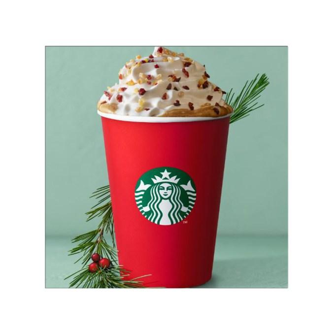 Christmas Panettone Latte Starbucks