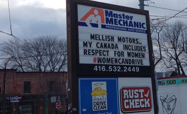 Car mechanic's sexist billboard prompts women