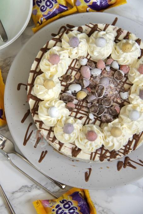 No-Bake Mini Egg Cheesecake