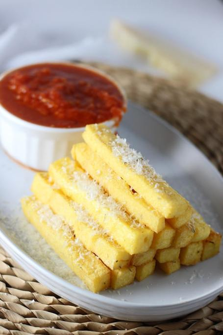 Healthy French Fry Recipes | Summer Eats | Baked polenta fries