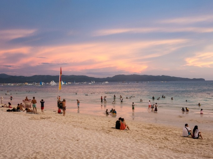 White Beach in the Philippines