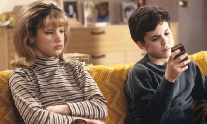 Juliette Lewis and Fred Savage on The Wonder Years