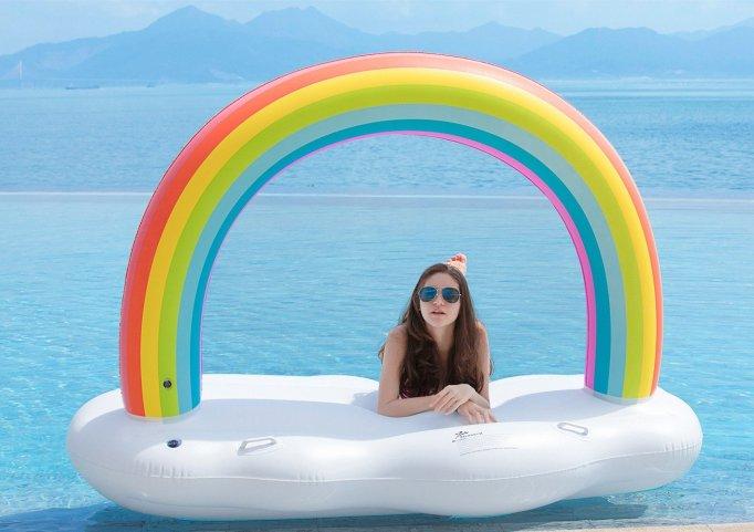 Rainbow Cloud Pool Float
