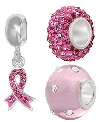 Charms from Pandora for Breast cancer awareness month