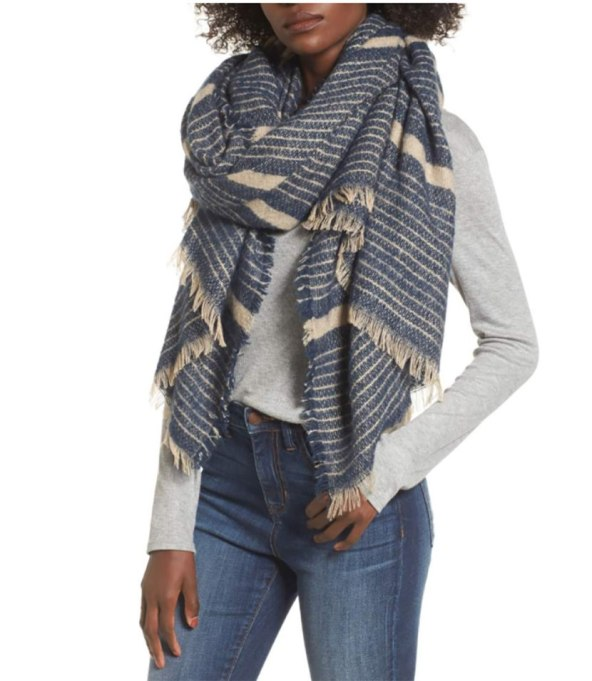 Blanket Scarves to Keep You Cozy This Fall and Winter: Striped scarf at Sole Society   Fall and Winter Fashion 2017