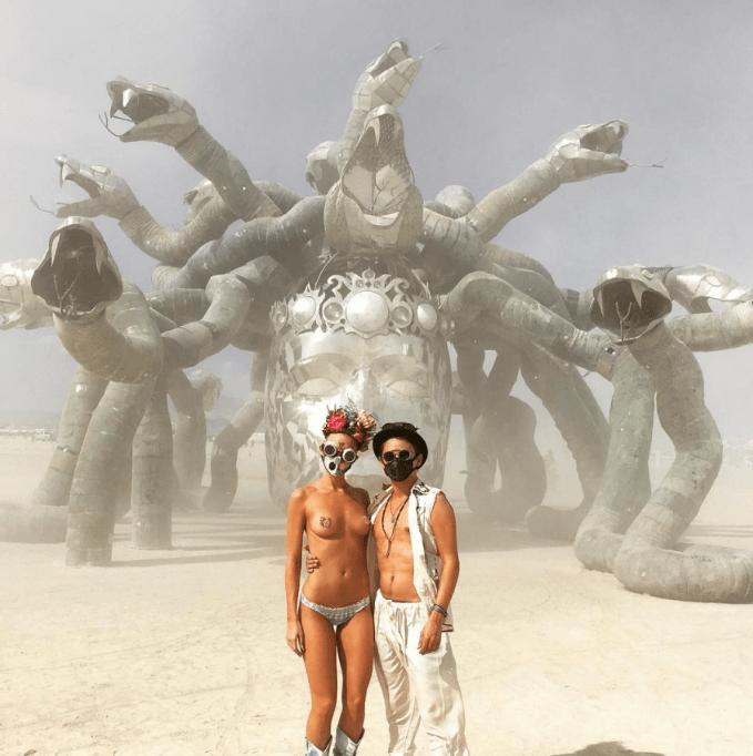 Matt Bellamy Elle Evans Burning Man