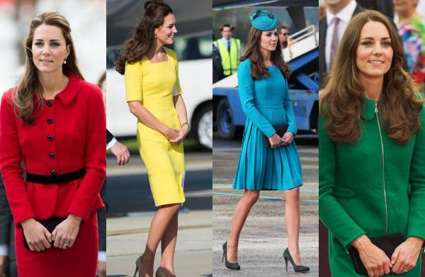 Kate Middleton dazzles in rainbow colours