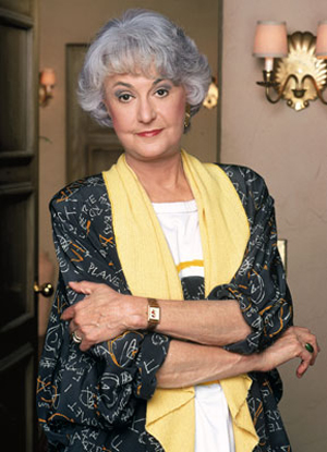 Bea Arthur in a still from Golden Girls