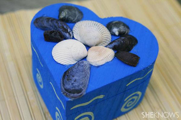 Shell jewelry box beach craft