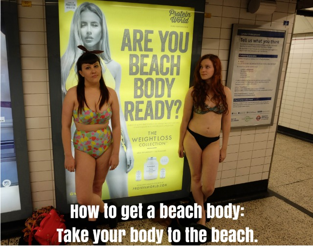 Feminists respond to Protein World's Beach Body campaign