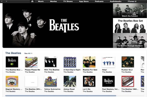 The full Beatles library is now on iTunes