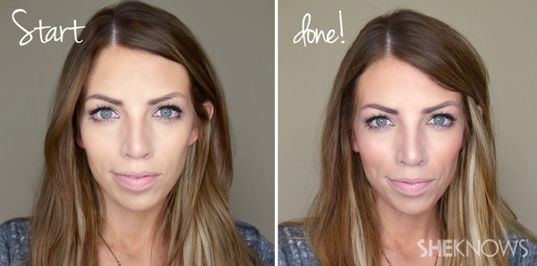 Bronzer: Before and after
