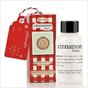 cinnamon buns shampoo, shower gel and bubble bath ornament