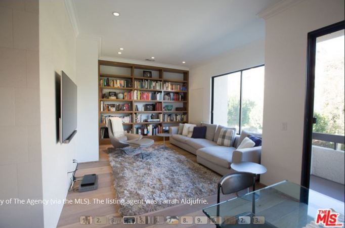 Kris Jenner condo library