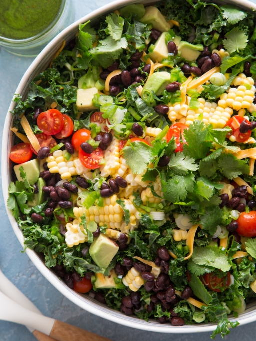 Kale taco salad from What's Gaby Cooking