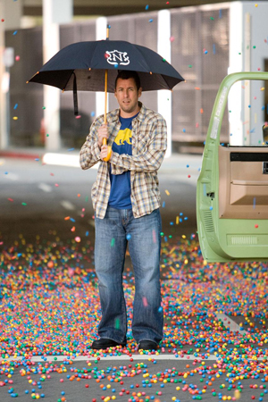 Adam Sandler is handing a lot for his niece and nephew