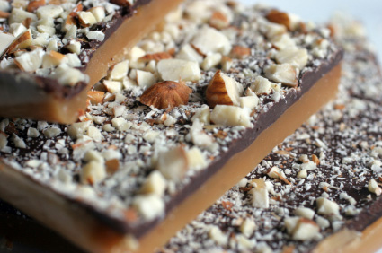 Almond brittle made with beer