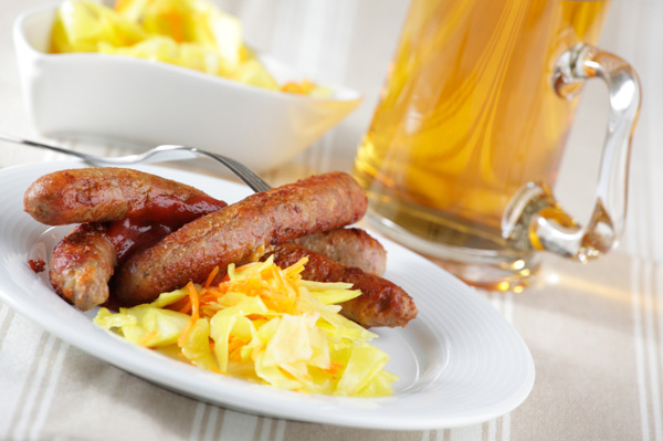 Beer and sausages