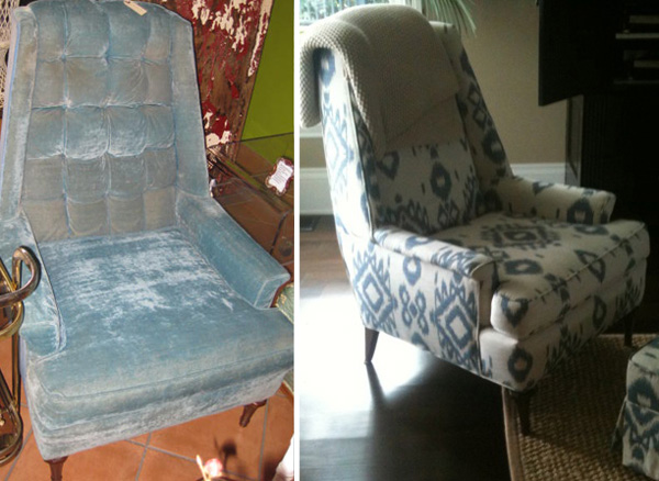 Before and after -- Thrift store furniture