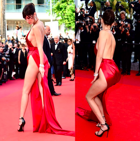 Bella Hadid Cannes' dress