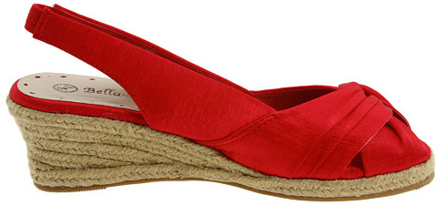 Bella vita sandals in red