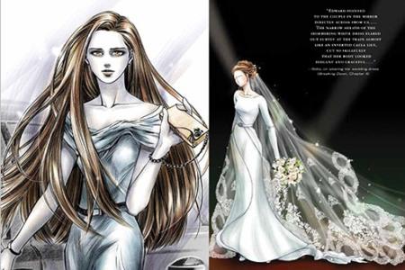 Bella's wedding dress from Breaking Dawn