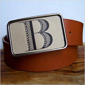 Monogrammed belt buckle | Sheknows.ca