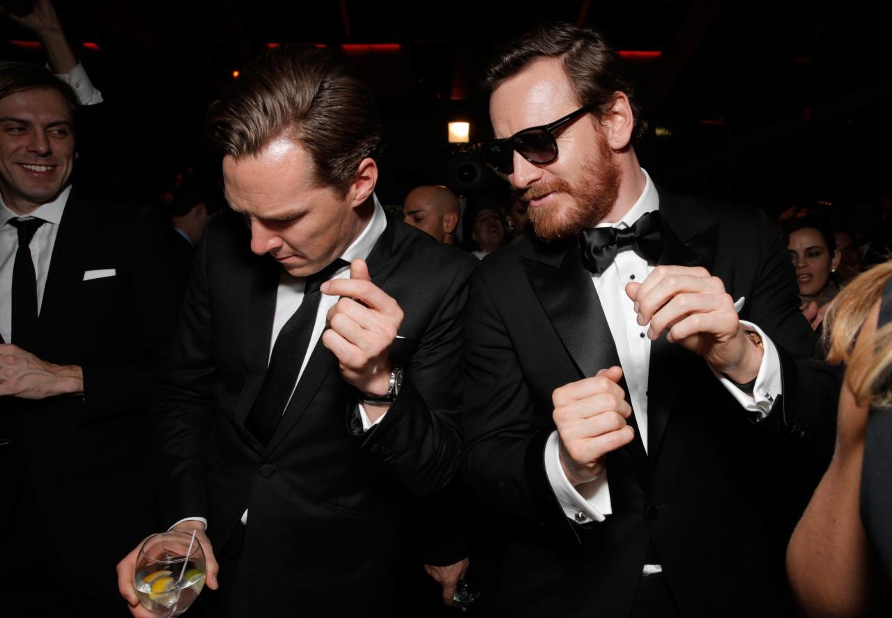 "Benedict Cumberbatch ""dance off"" with Michael Fassbender"