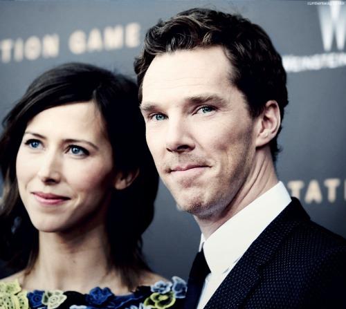 Benedict Cumberbatch with fiancee Sophie Hunter