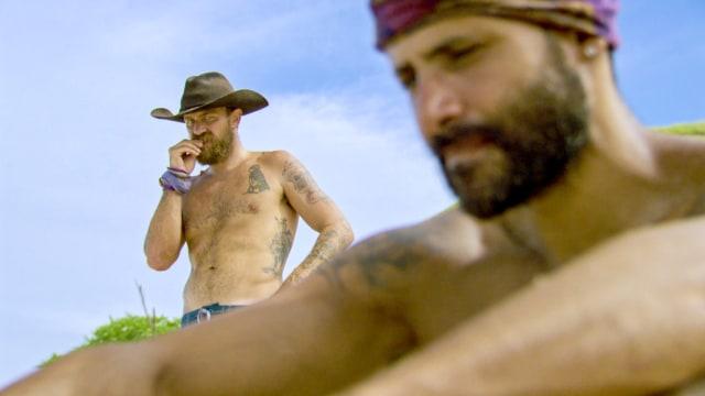 Ben Driebergen and Joe Mena on Survivor: Heroes Vs. Healers Vs. Hustlers