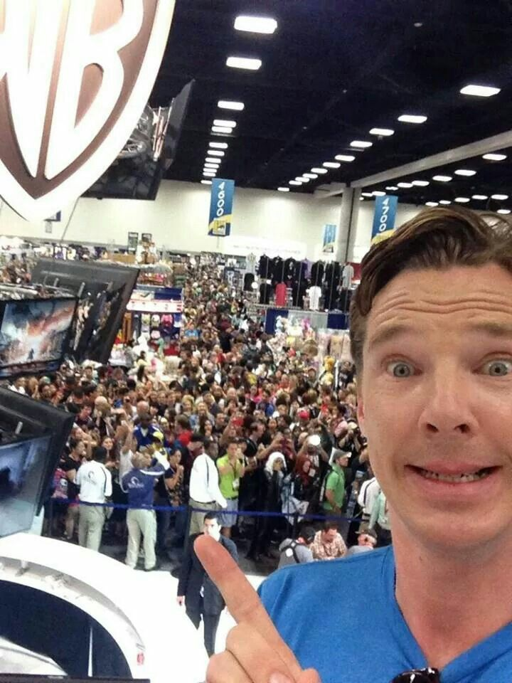 Benedict Cumberbatch at Comic-Con.
