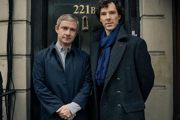 Benedict Cumberbatch and Martin Freeman in Sherlock Season Three | Sheknows.ca