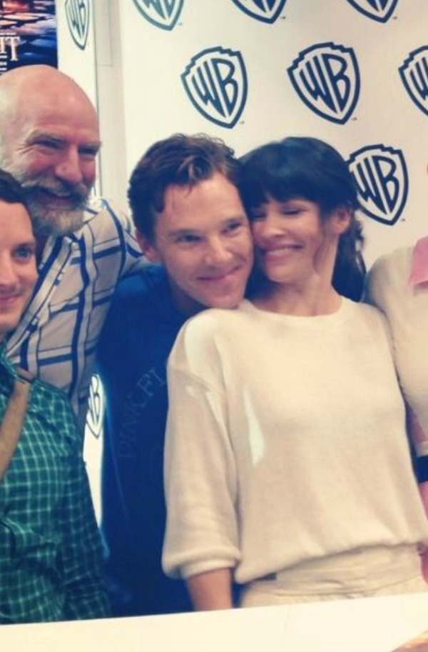Benedict Cumberbatch, Evangeline Lilly at Comic-Con.