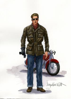 Brad Pitt as seen by Jacqueline West