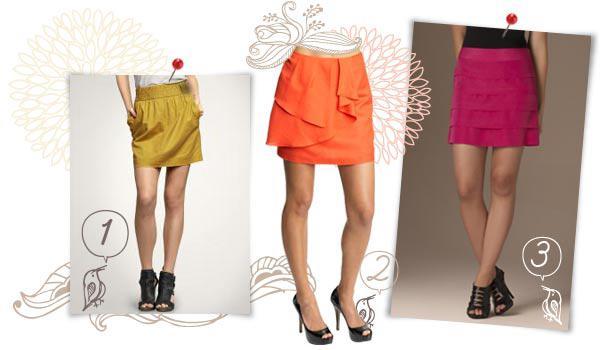 Fresh, flirty spring skirts