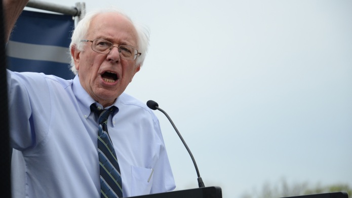 Bernie Sanders: The Democratic candidate for