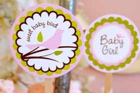 Little birdie printables from Frog Prince Paperie