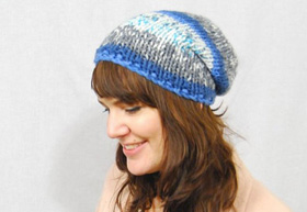 Fair Isle slouchy hat