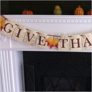 Give thanks banner | Sheknows.ca
