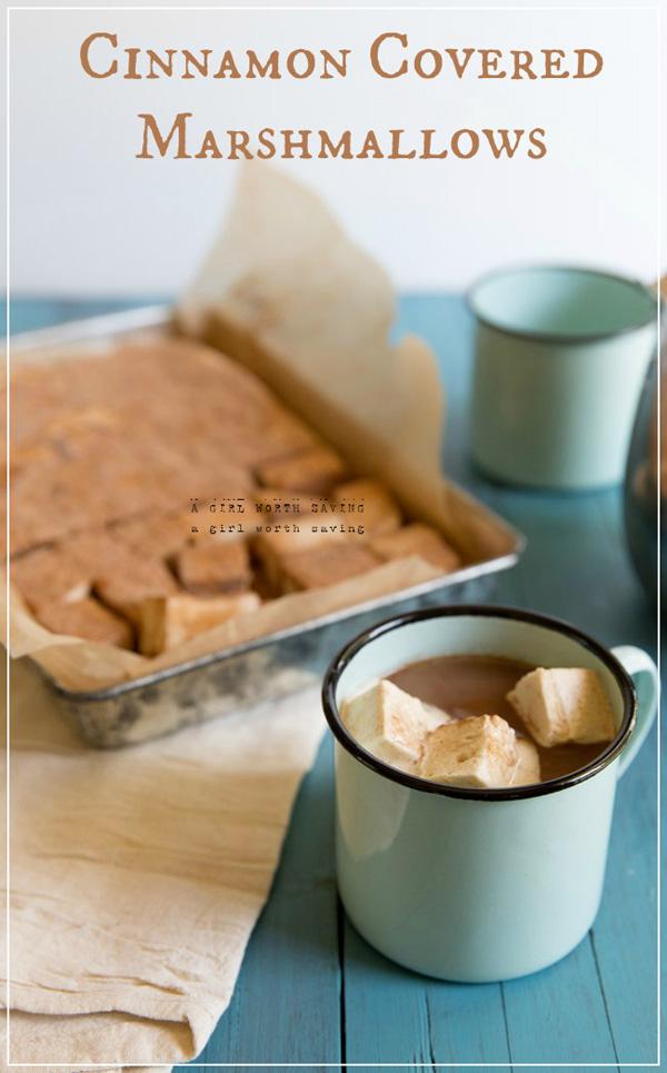 Cinnamon covered marshmallows